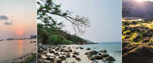Bãi Hương là xem như là bãi biển ngắm hoàng hôn đẹp nhất